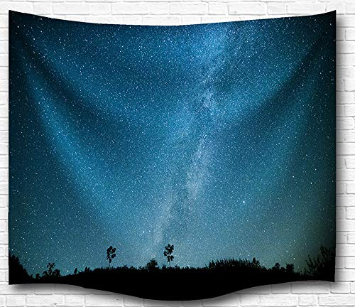 Universe Galaxy Star Wall Tapestry, IMEI Multi Purpose Outer Space Wall Hanging Mural Art Decoration Tapestry Sofa Cover Beach Blanket Dorm Decor (51X60 Inch, Celestial Stars)