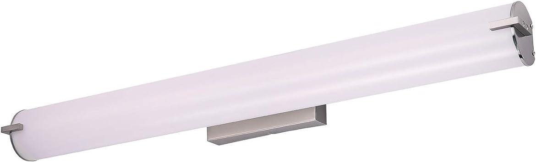 Amazon Com Ostwin 36 Inch Led Vanity Light Dimmable Bathroom Lighting Fixtures 30w 150 Watt Equivalent 2200 Lm Wall Mount Tube Light Brushed Nickel Finish 5000k Daylight Etl Home Improvement