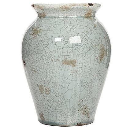 Amazon Hosley 8 High Blue Crackle Finish Ceramic Floor Vase