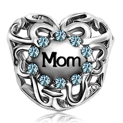 JMQJewelry Love Heart Mom March Charms Beads for Bracelets Mom Sister]()