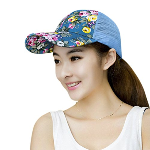 0e02aeb3283 Women Baseball Cap Ladies Cycling Face Mask Girls Mesh Snapback Sun Hat  with Brim Veil Golf Fishing Flat Visor Removable Neck Flap UPF 50 Quick Dry  ...