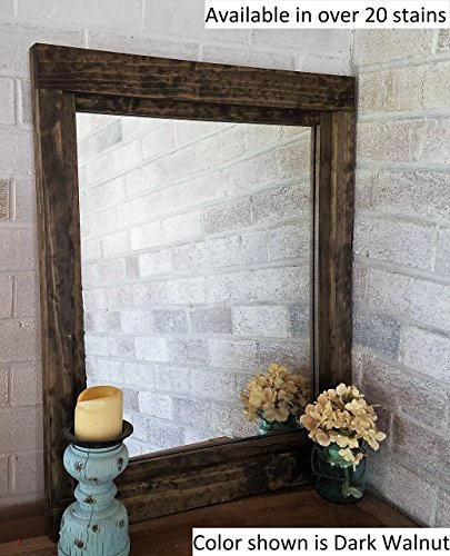 Renewed Décor Farmhouse Mirror in 20 stain colors  Large Wall Mirror  Rustic Modern Home  Home Decor  Mirror  Housewares  Woodwork  Frame  Stained Mirror Available in 5 sizes