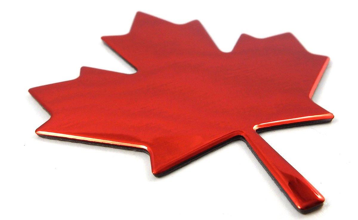 Maple Leaf Canada RED Finish Decal Emblem 3D Sticker car Bike 2.7 Flexible