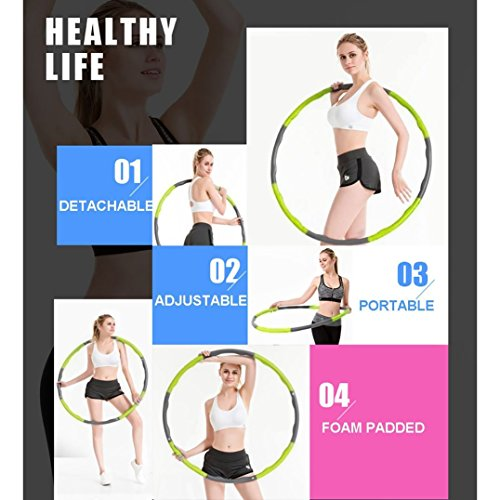 Brave Tarzan Weighted Hula Hoop for Exercise,Fat Burining,Dance-2lb,8 Section Detachable Design-2018 Professional Soft fitness hula hoop exercise equipment hula hoop