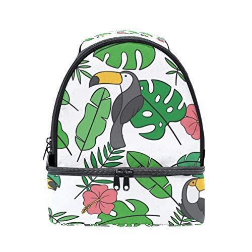 para con hojas hombro Alinlo pájaros almuerzo diseño el y para el térmica de Bolsa tucán ajustable de correa PwffqvxE