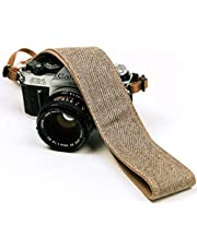Brown Jeans Camera Strap Real Denim Belt for All DSLR Camera. Denim style Universal SLR Strap, Neck Shoulder Camera Strap for Canon, Nikon,Pentax, Sony, Fujifilm and Digital Camera