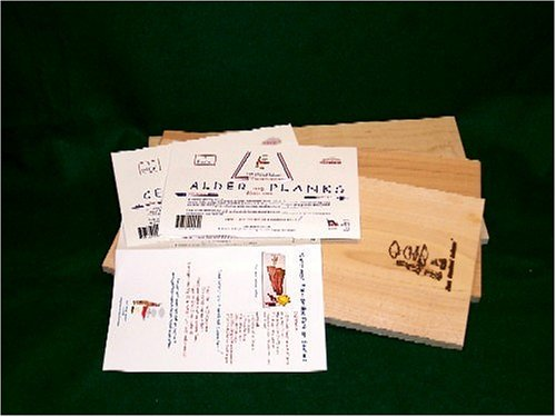 Just Smoked Salmon Grill Master Grilling Plank Kit (4 pack each of Cedar, Alder & Maple) by Just Smoked Salmon