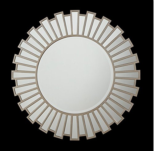 The Display Guys, 39 1/2 inch Large Round Sunburst Shape Wall Mount -