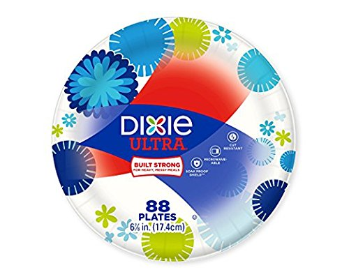 "Dixie Ultra Plates, Family Pack, 6 7/8"", 88 ct"