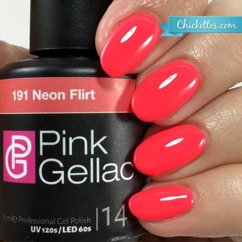neon coral gel polish - 4