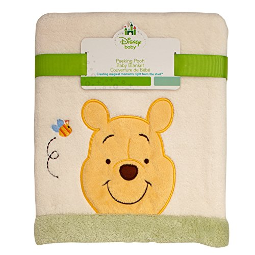 Disney Baby - Peeking Pooh Baby Blanket with Applique