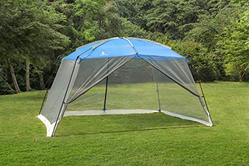 ALPHA CAMP Screen House Tent Easy Setup Canopy - 13'X9', Blue (Large Camp Tent)