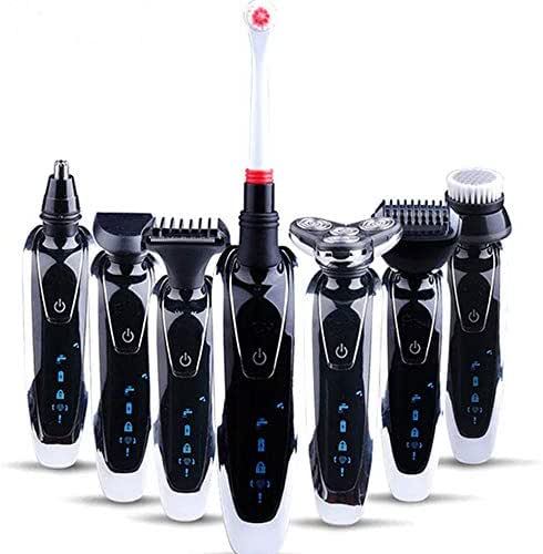 Father's day gift -3D Electric Razor for Men - 7 in 1 Rechargeable & Cordless Shaver - Triple Blade Cutting Feature - Ergonomically Designed for Superior Comfort - Multi-functional