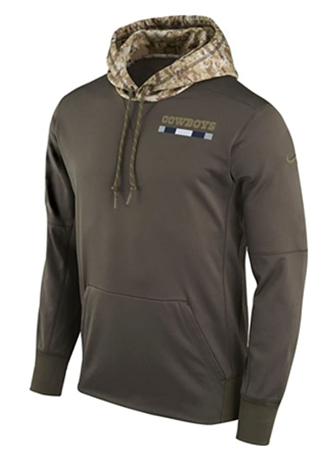 Amazon.com   Dallas Cowboys Nike Olive Salute to Service Sideline  Therma-Fit Pullover Hoodie   Sports   Outdoors 1468e4b48
