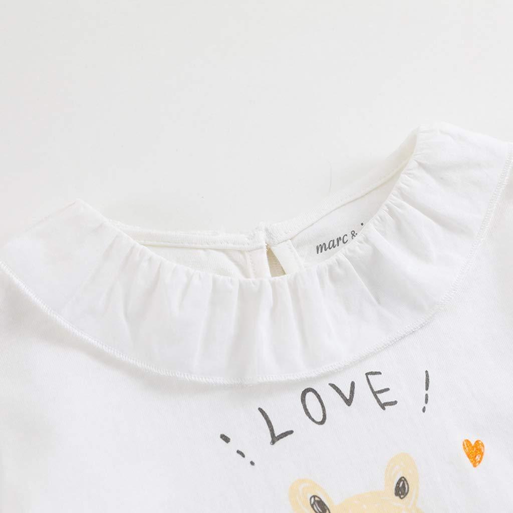marc janie Little Girls Autumn Cute Squirrel T Shirt Baby Girls Bottom Tee
