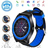Smart Watch,Bluetooth Smartwatch Touch Screen Wrist Watch with Camera/SIM Card Slot,Waterproof Phone Smart Watch Sports Fitness Tracker for Android iPhone IOS Phones Samsung Huawei for Kids Women Men