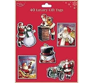 Eurowrap Eurowrap Christmas Traditional Luxury Gift Tags 40pc