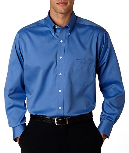 ve Non-Iron Pinpoint Oxford Shirt (V0143) -French Blue -2XL ()