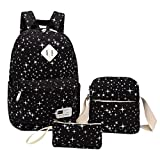 Student Backpack, Aiduy School Backpack College Bookbag Travel Laptop Backpack Canvas Daypack Casual Rucksack with Shoulder Bag and Pencil Bag for Teen Girls Boys & Women