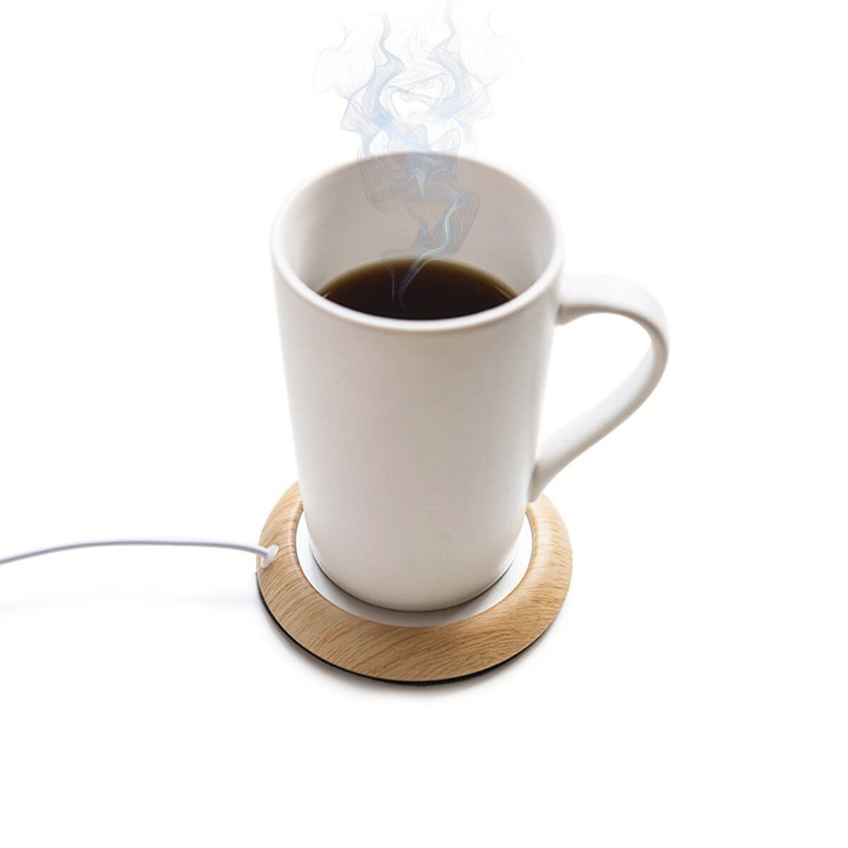 UniM Coffee Warmer USB Mug Warmer Beverage/Drink/Tea Warmer for Office/Home Use (Light Wood Grain)