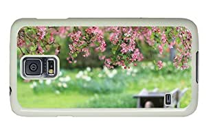 Hipster personalized Samsung Galaxy S5 Case garden spring blooms PC White for Samsung S5 by icecream design