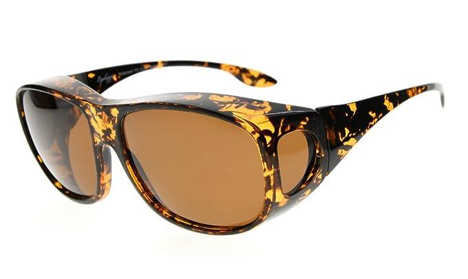 Fit-over Polbrille für Brillenträger Dunkelbraun-DEMI 7zmUzQcsvL