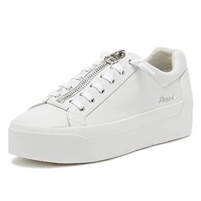 9e09ca2e3953 Ash Womens White Red Buzz Platform Trainers  Amazon.co.uk  Shoes   Bags