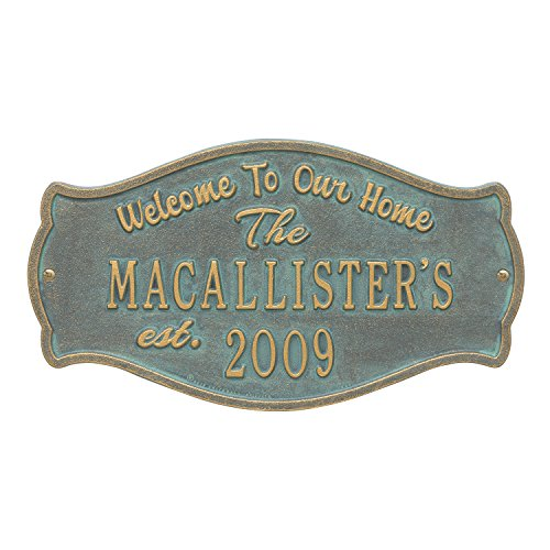 (Custom Fluted Arch WELCOME 2 Lines Anniversary Plaque 15