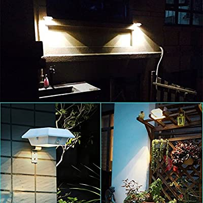 CYBERDAX Super Bright Motion Sense Solar light, Wireless, IP45 waterproof ,6 LED Lights for Outdoor Garden, Fence, Dog House, Tree, Outside Garage Door, Wall, Stairs