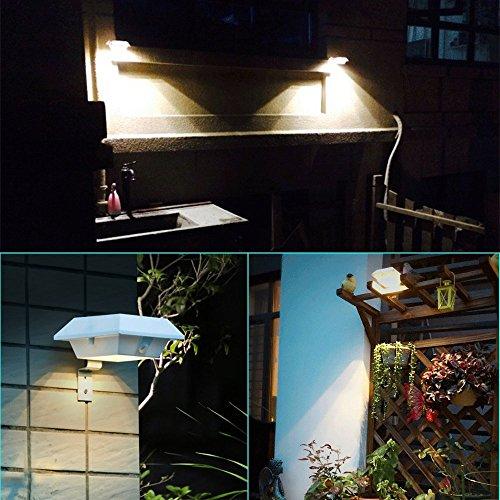 superb exterior house lights 4. CYBERDAX Super Bright Motion Sense Solar Light, Wireless, IP45 Waterproof ,6 LED Lights For Outdoor Garden, Fence, Dog House, Tree, Outside Garage Door, Superb Exterior House 4