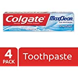 Colgate MaxClean Foaming Toothpaste with Whitening, Mint - 6 Ounce (4 Count)