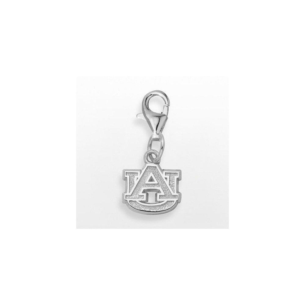Jewel Tie 925 Sterling Silver Auburn University AU 3//8 inch Dangle Lobster Clasp Pendant Charm 0.4mm