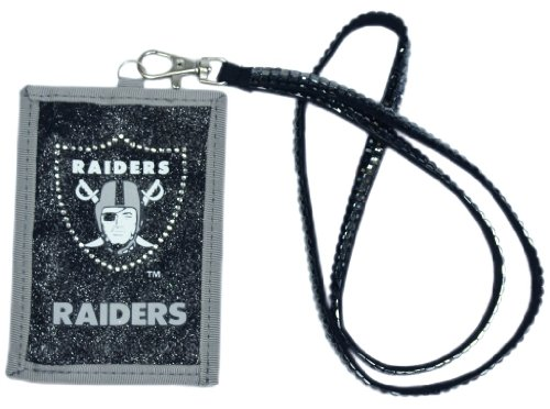 Oakland Raider Costume (NFL Oakland Raiders Beaded Lanyard with Nylon Wallet)