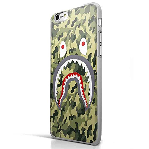 Bape Shark Army Military Texture for Iphone and Samsung Galaxy Case (iPhone 6 plus White)