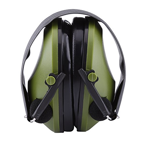 Active Noise Reduction Earmuffs Headset Hearing Protector Ear Defenders for Construction Hunting Shooting Military(Army Green)