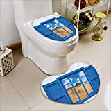 vanfan 2 Piece Bathroom Mat Set Sand From Window Of Spain ach Distant Hill Plants Sand Touristic Bathroom Absorbent Cover