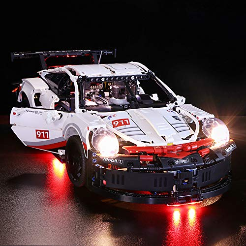 Vonado Lighting Kit for Lego 42096,Porsche 911 RSR Building Block Kit Brick,Compatible MOC Super 20097 Racing Car Toy Gift to Kids Friend Boy and Girl(Only Lights) ()