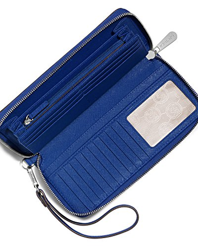 Michael Kors Jet Set Travel Continental Wallet Wristlet - Electric Blue by Michael Michael Kors (Image #3)