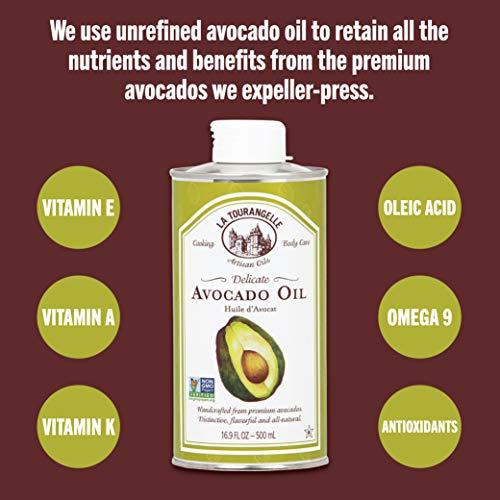 La Tourangelle Avocado Oil 8.45 Fl. Oz., All-Natural, Artisanal, Great for Salads, Fruit, Fish or Vegetables, Great Buttery Flavor by La Tourangelle (Image #4)