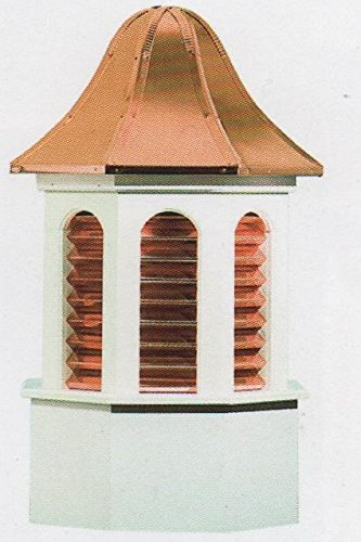 Pinnacle Vinyl Cupola with Copper Louvers 24'' X 47''