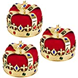 Royal Jeweled King's Crown - Costume Accessory
