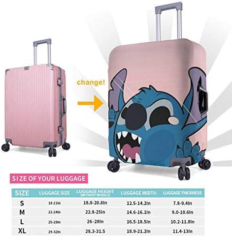 スーツケースカバー ステッチ 防水 傷防止 防塵 出張 旅行 キャリーカバー ラゲッジカバー かわいい トランクカバー おしゃれ S M L XL