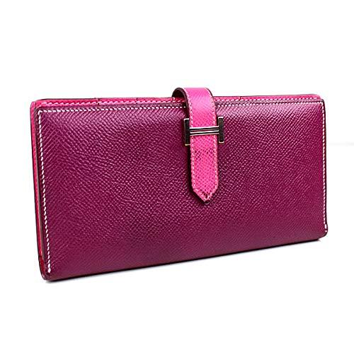 (エルメス) HERMES 長財布 ベアン ヴォーエプソン バイカラー 紫×ピンク j216 [中古]   B07QDGD3Y8
