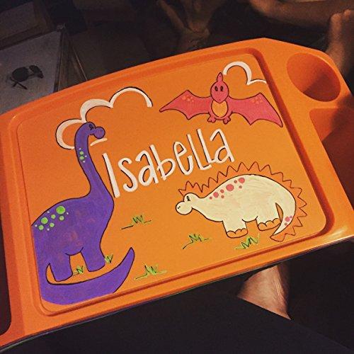 Girl Dinosaur tray ()