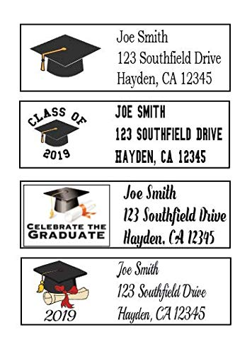 Class of 2019 Graduation Address Labels - 30 Count - Personalized