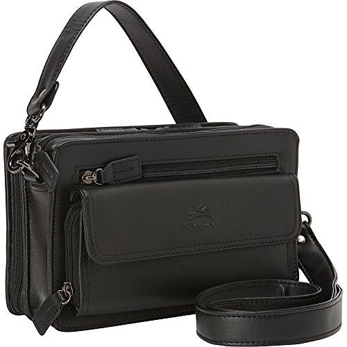 mancini-leather-goods-compact-unisex-bag-black