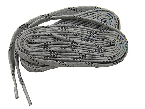 GREATLACES 2 Pair - Heavy Duty proTOUGH(TM) Kevlar(R) Reinforced Flat 8 mm Wide Boot Shoelaces (63 Inch 160 cm, Smoke Grey-Black) (Hiking Boot Laces 63)