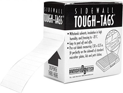 Diversified Biotech TT-SWALL Sidewall Tough-Tags Label, Use with Microplate, 0.25