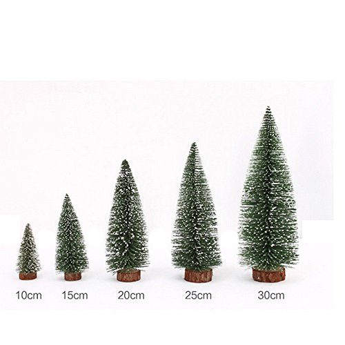 Mini Christmas Tree, Hmlai Mini Artificial Christmas Tree Stick White Cedar Desktop Small Christmas Tree Christmas Decoration (Height:10cm, Green) (Cedar Spruce Top)