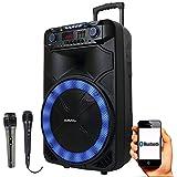Caixa Amplificada Sumay Thunder X 1000w - com 2 Microfones